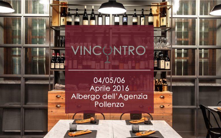 Ti diamo appuntamento il 4, il 5 e il 6 aprile con l'evento #Vincontro a Pollenzo